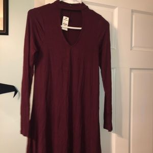 Express wine colored dress